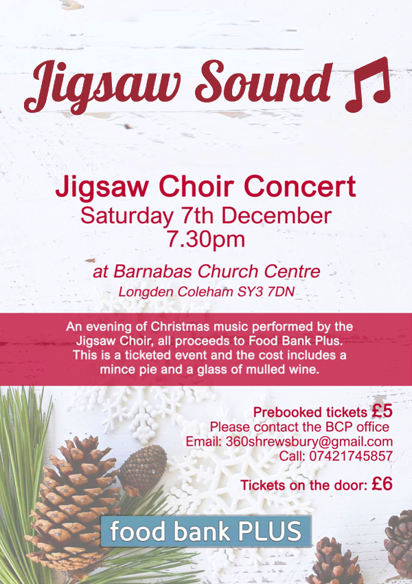 Jigsaw Sound Christmas Concert Barnabas Church - 7th December 2019