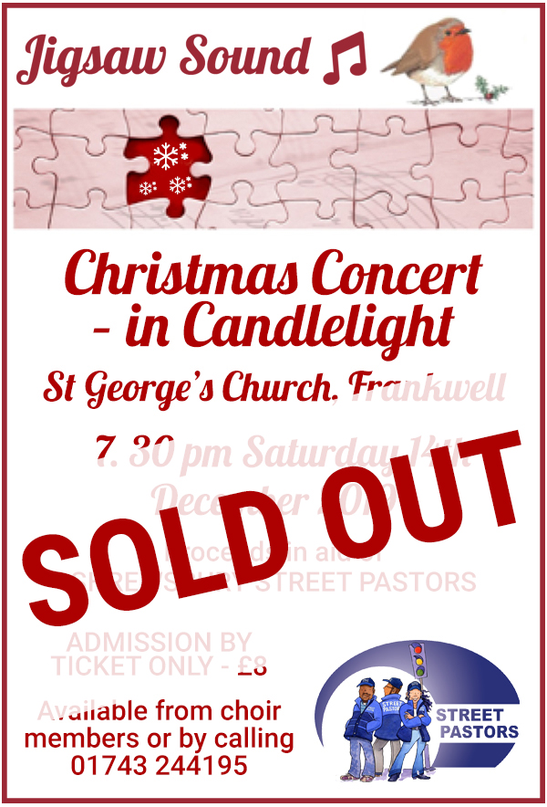 Jigsaw Sound Christmas Concert in Candlelight - 14th December 2019